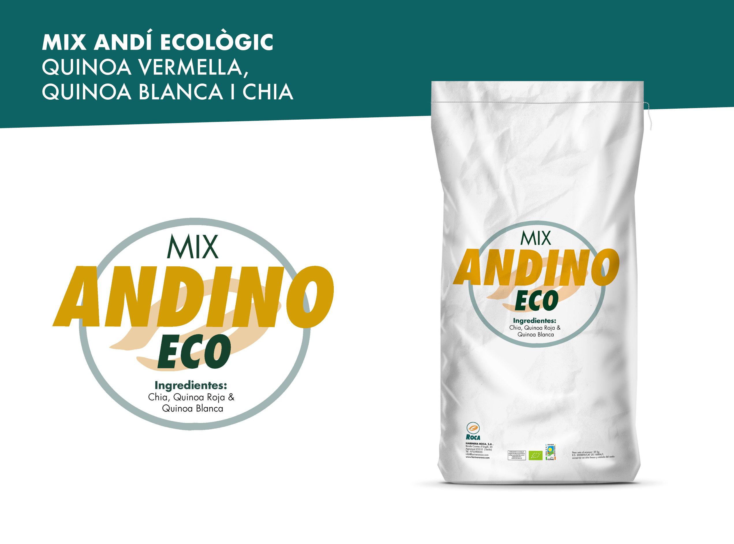 Mix andí ecològic: quinoa vermella, quinoa blanca i chia